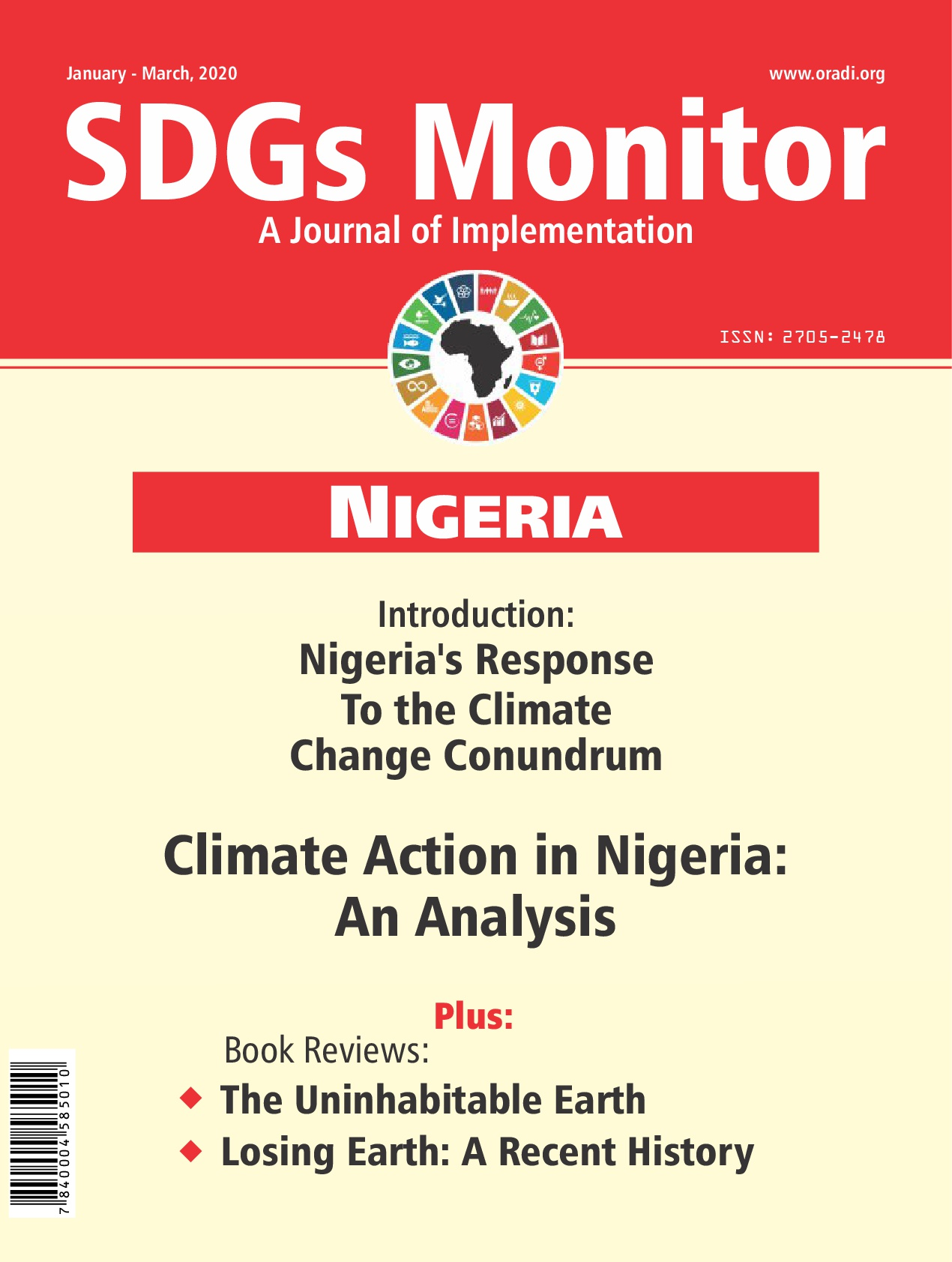 SDGs Monitor Journal (Jan - Mar, 2020 Edition)